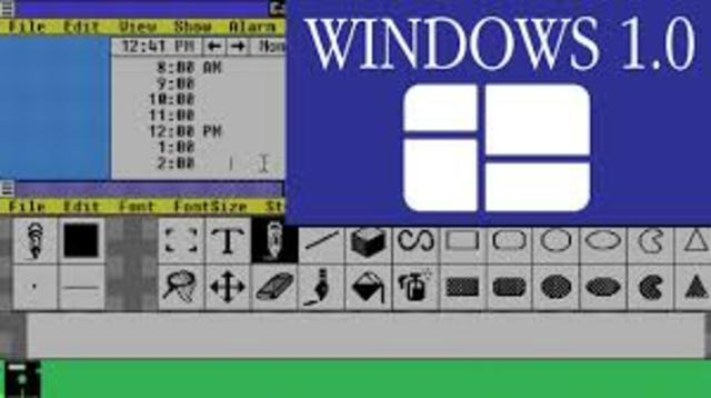 1985 MICROSOFT WINDOWS VERSION 1.0