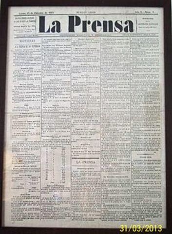 Sale por primera vez el diario La Prenza