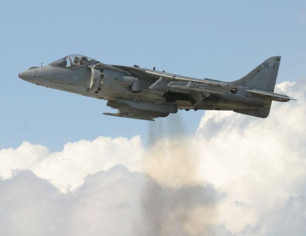 British Aircraft Harrier Jump Jet Flown
