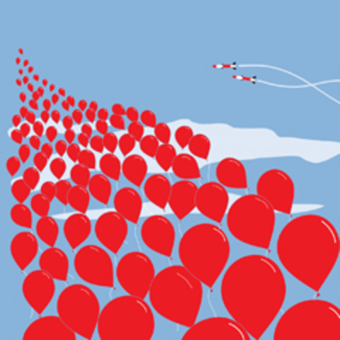 """Paranoia about nuclear war is at an all time high. """"99 Red Balloons reaches #2 in the US"""""""