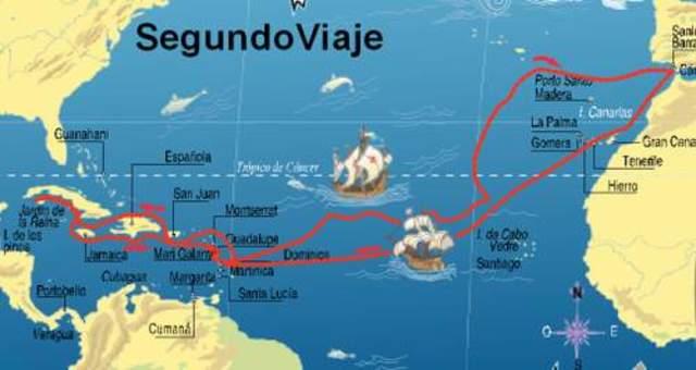 Cristóbal Colón , y su segundo viaje en busca de los tesoros de los pueblos orientales
