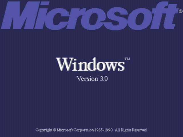 Microsoft anunció el Windows 3.0, el día 22 de mayo