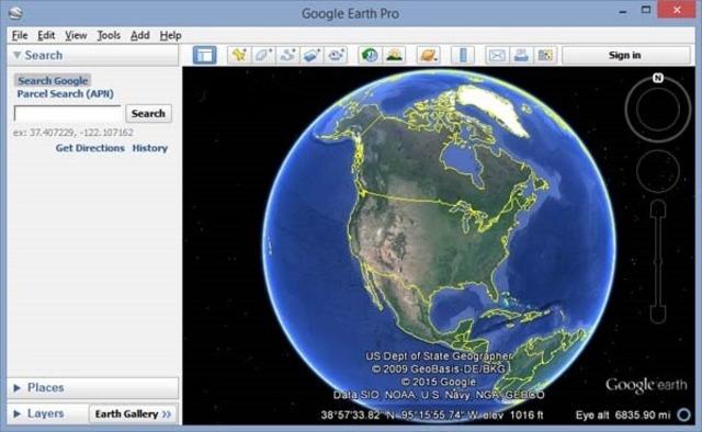 El programa Google Earth es lanzado