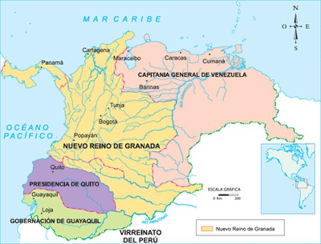 conformacion de la Nueva Granada