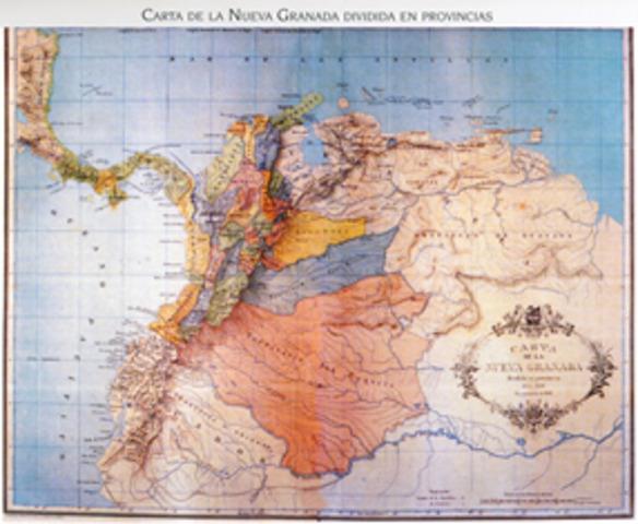 Se conforma La nueva republica de Nueva Granada