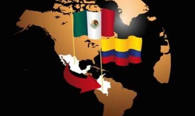 TLC CON COLOMBIA, 1/01/1995; objetivo.- Crear un espacio de libre comercio, prevaleciendo el libre comercio, desarrollo económico.