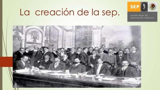 Se Crea la Secretaria de Educacion Publica
