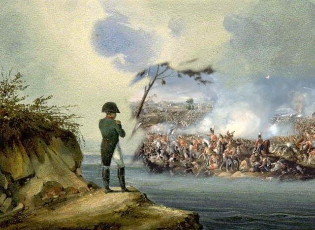 Napoleón abdica el trono y es desterrado.