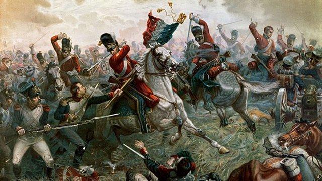 Napoleón sale de la isla y batalla de Waterloo