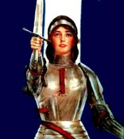 Joan of Arc lifts the siege of Orleans for the Dauphin of France