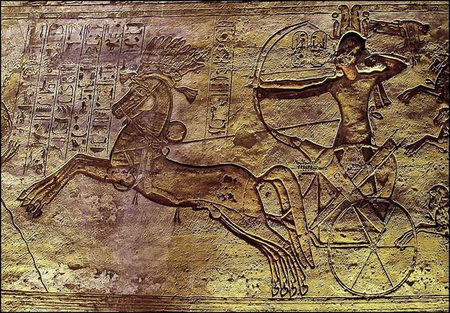 Battle of Kadesh between Pharaoh Ramesses II of Egypt and King Muwatalli II of the Hittites.