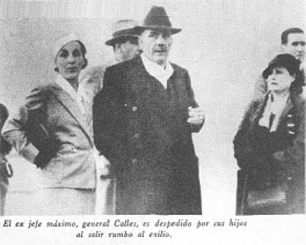 Exilian a Plutarco Elias Calles.