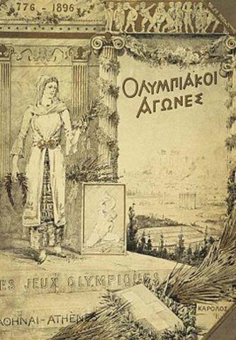 1896 Juegos Olímpicos en Atenas