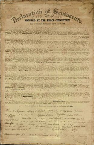 The signing of Declaration of Sentiments
