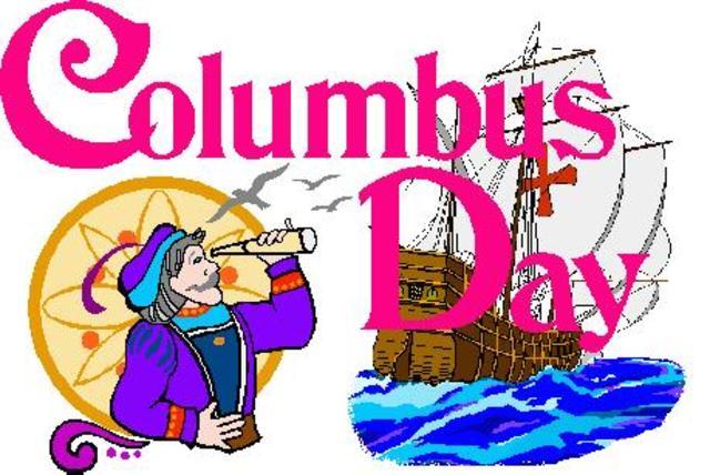 Columbus discovers America.