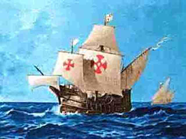 Santa Maria is wrecked off Cap Haitien.