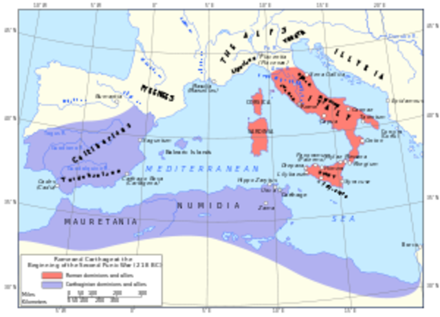 Second Punic war 218-202