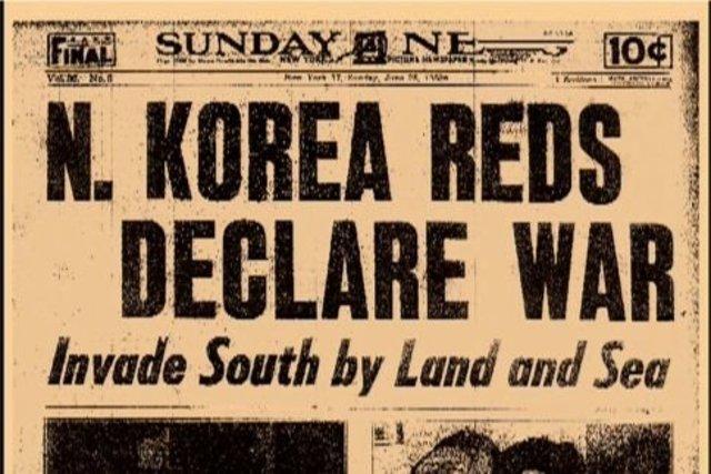 North Korea invades South Korea