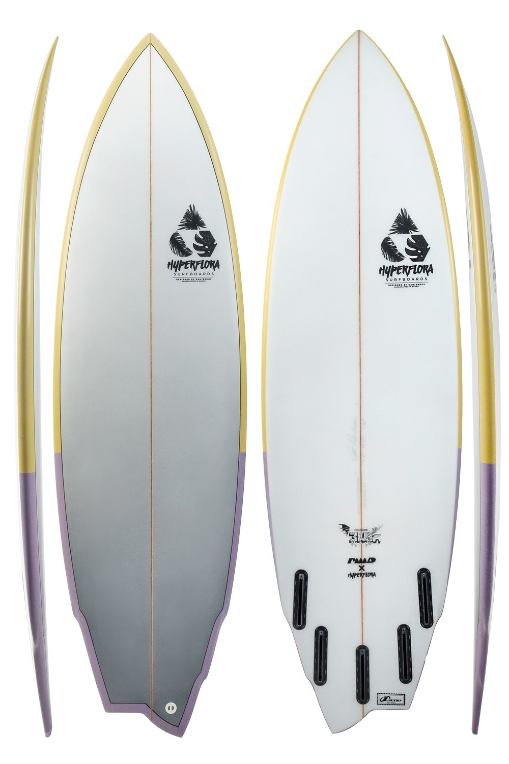 3WA - Assimétrica Regular | Hyperflora Surfboards