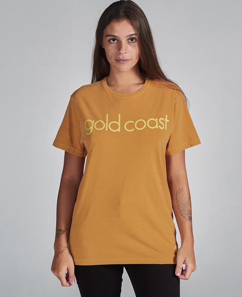 Camiseta Unissex Gold Coast - Mostarda e Amarelo
