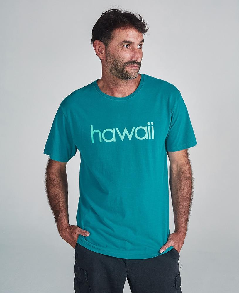 Camiseta Unissex Hawaii - Turquesa e Turquesa
