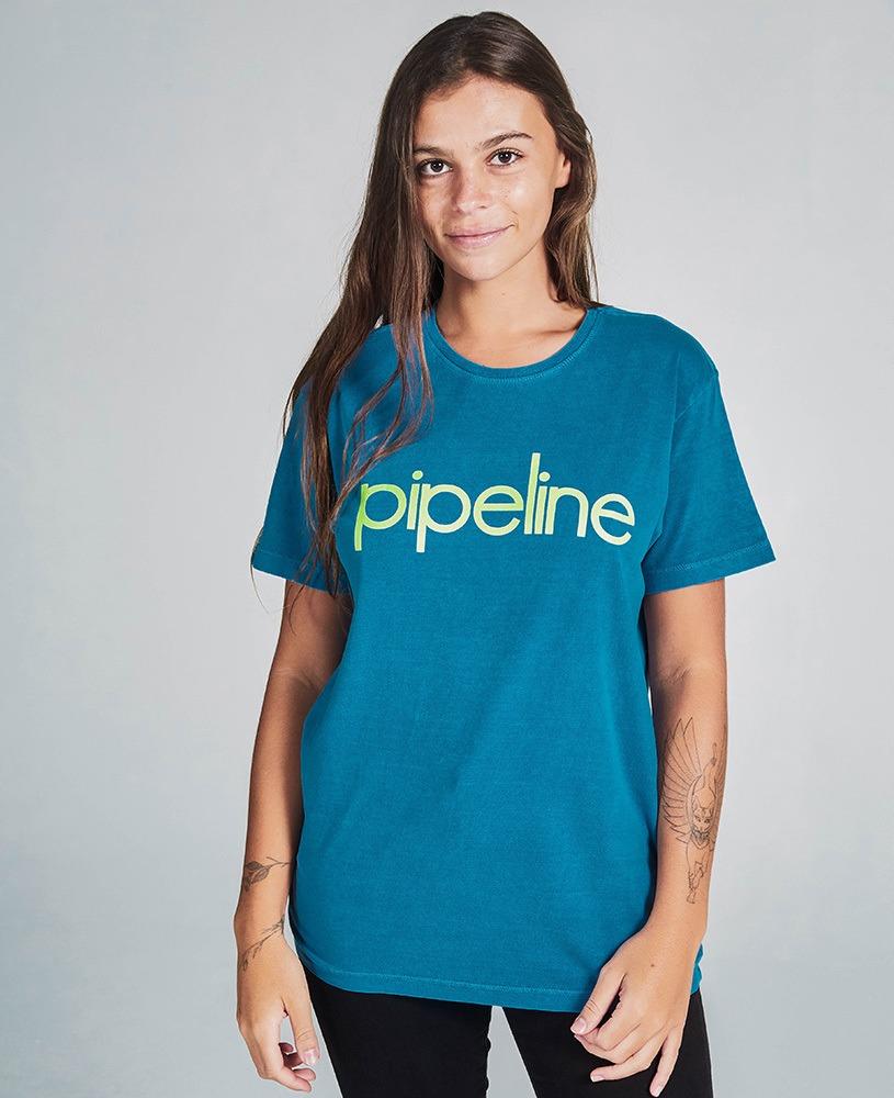 Camiseta Unissex Pipeline - Azul e Verde