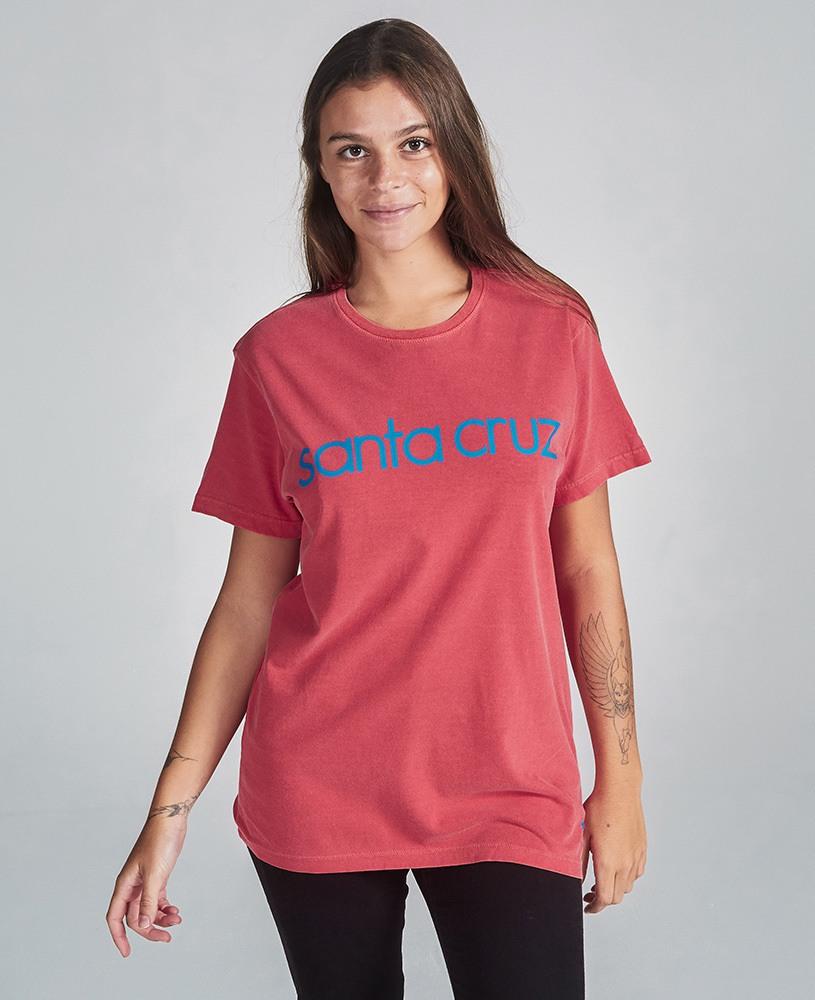 Camiseta Unissex Santa Cruz - Vermelha e Azul