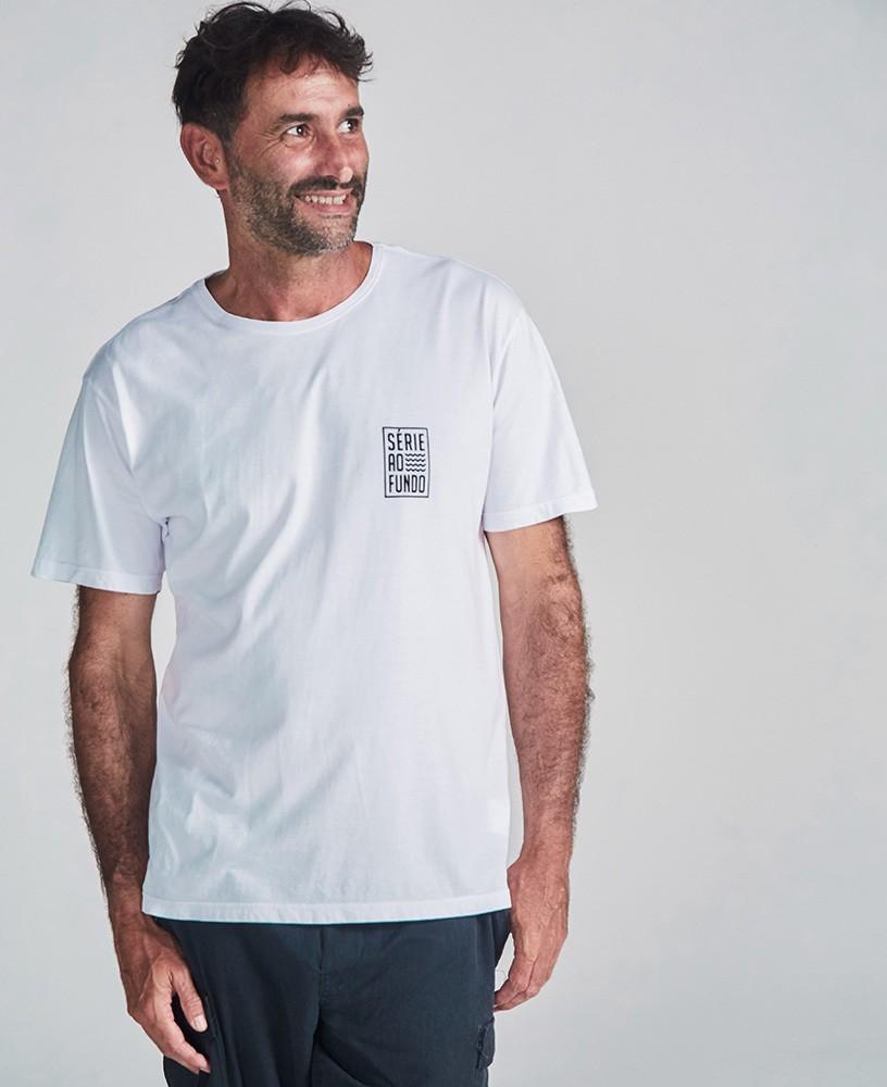 Camiseta Unissex Série ao Fundo - Branco e Preto
