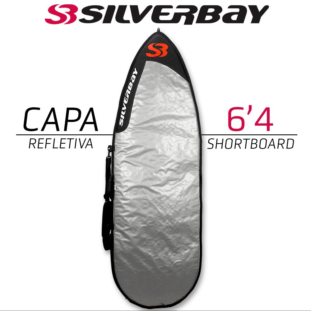 "Capa Refletiva Silverbay Shortboard 6'4"""