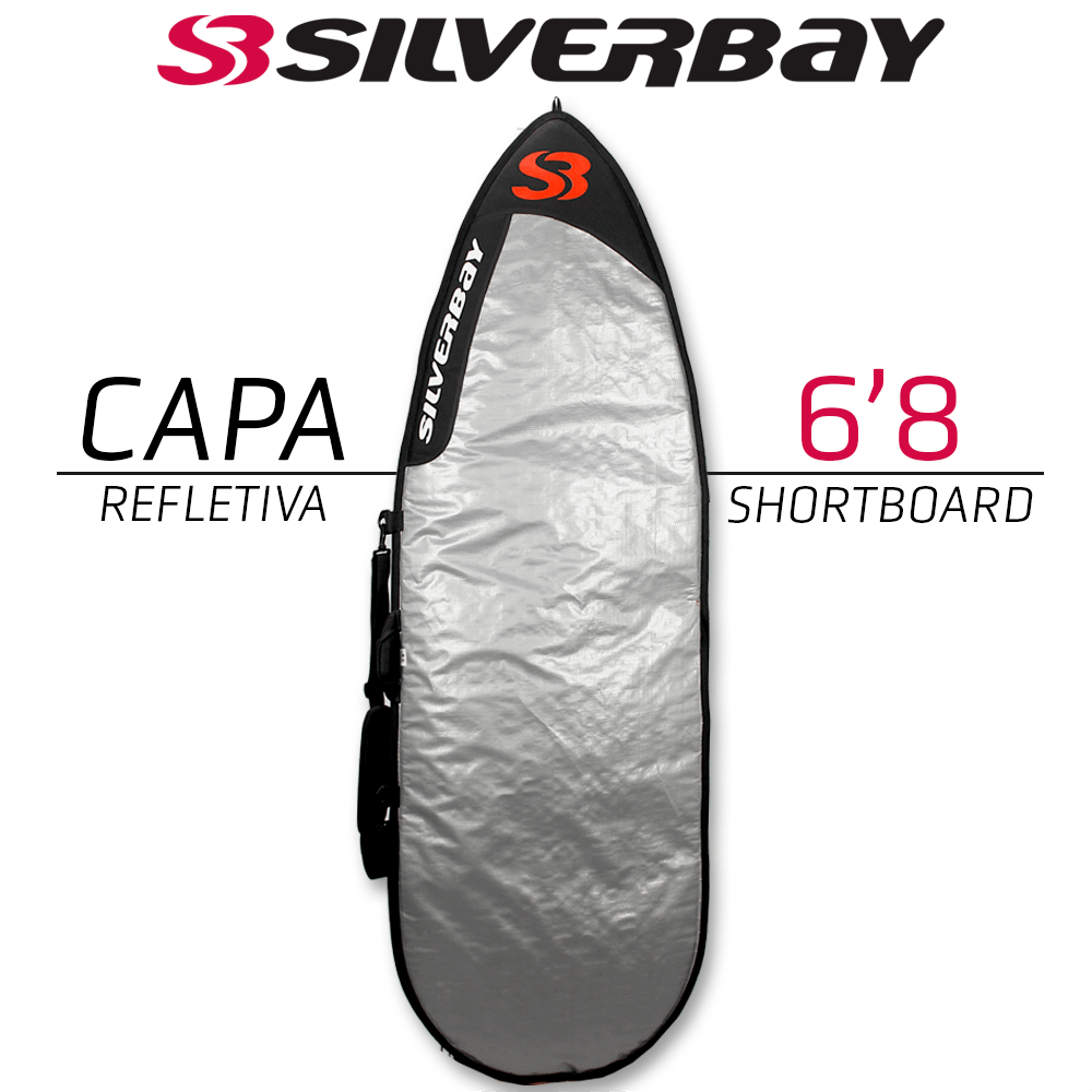 "Capa Refletiva Silverbay Shortboard 6'8"""