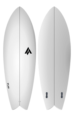 "PRANCHA DE SURF FLAP FISH RETRO 5'5"" - BLANK CORE EPS/EPOXI"