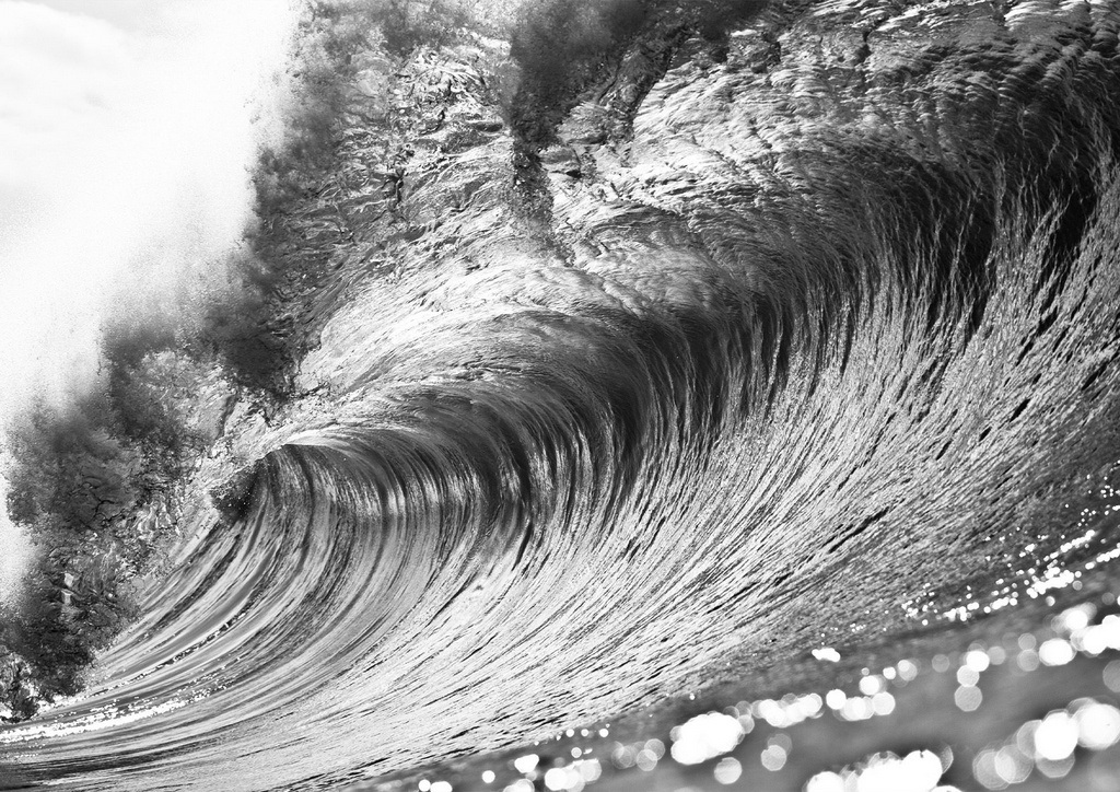Quadro Empty Metal Wave, Pipeline/Hawaii