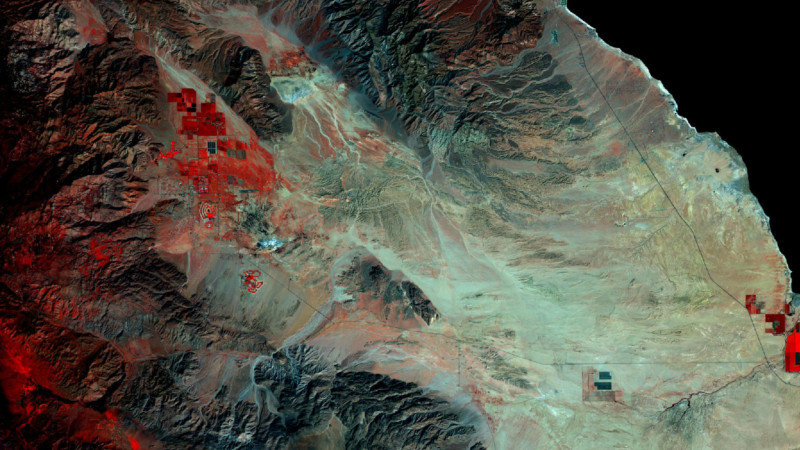 Seeing the California Desert Super Bloom from Space, Before and After Comparison