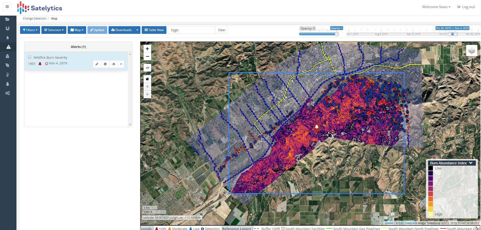 Wildfire impact assessment.
