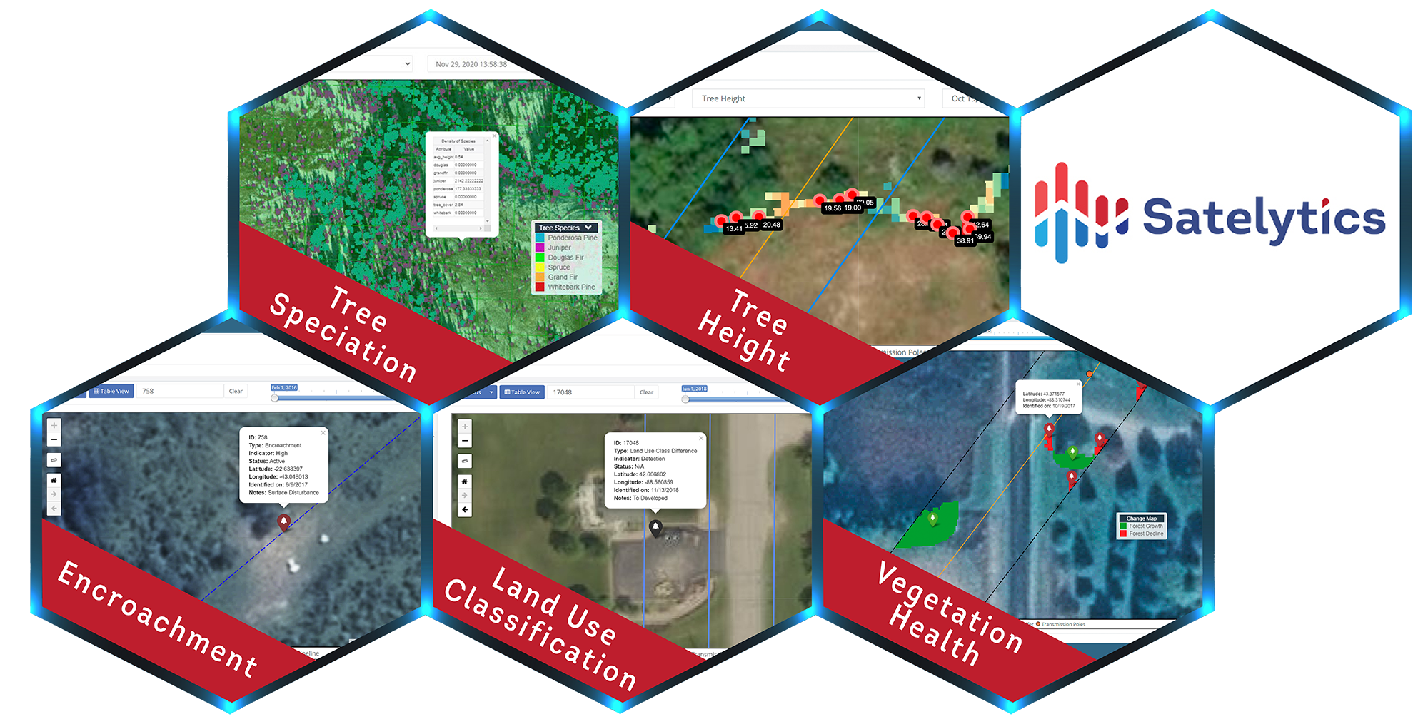 A sampling of Satelytics use cases for forestry.