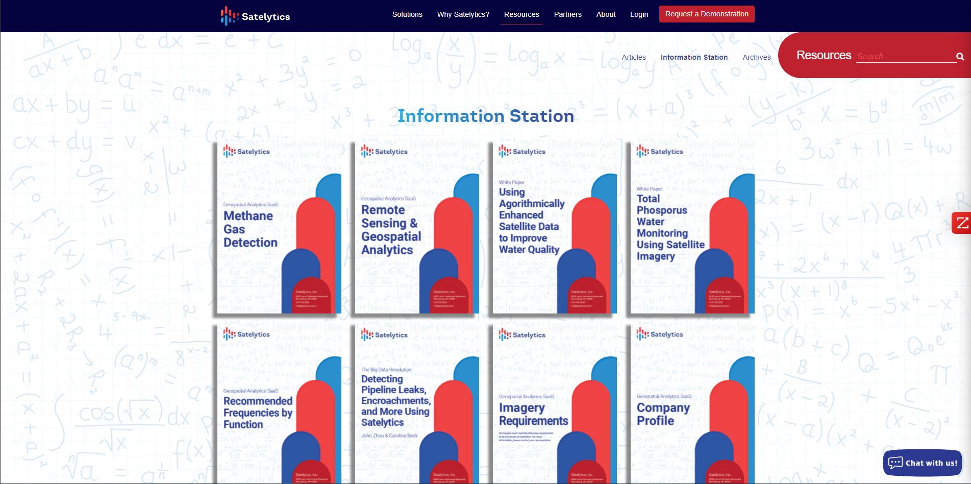 Information Station on the Satelytics website.