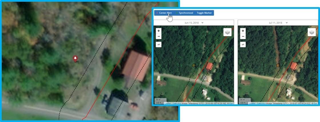 Identify small land movements.
