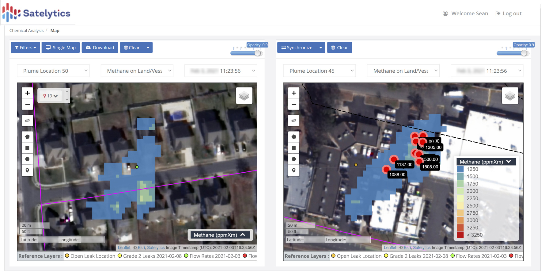 Methane detection and quantification.