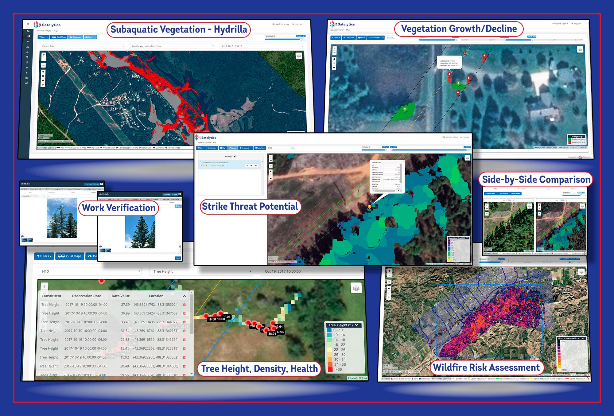 Employ Satelytics' vegetation management algorithms in wildfire prevention.