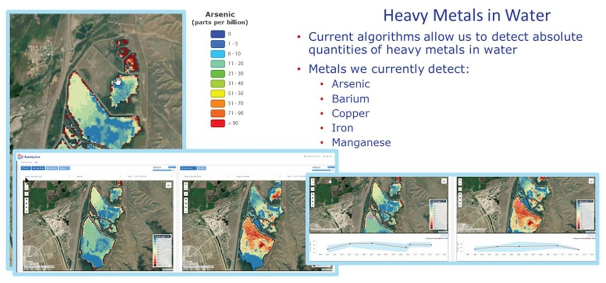 Satelytics heavy metals analysis of Warm Springs Pond