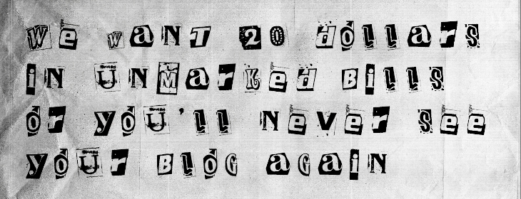Website ransom note