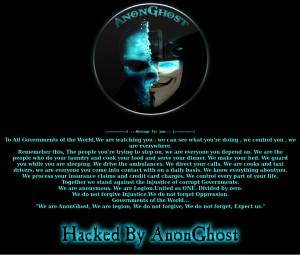 AnonGhost website defacement