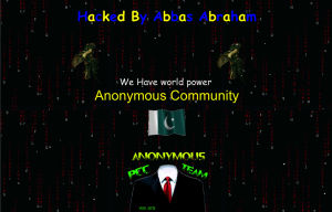 Anonymous Community website defacement