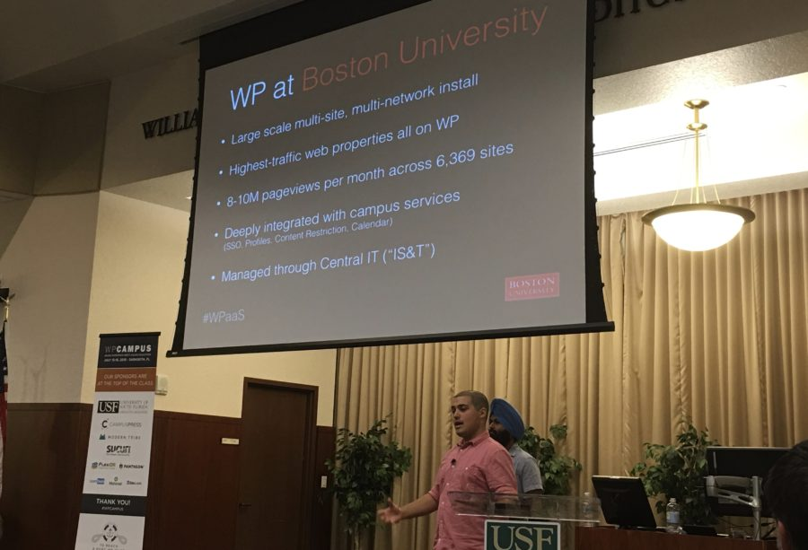 Inder Singh and Andrew Bauer at WPCampus