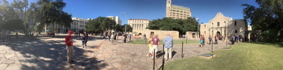 The grounds of the Alamo
