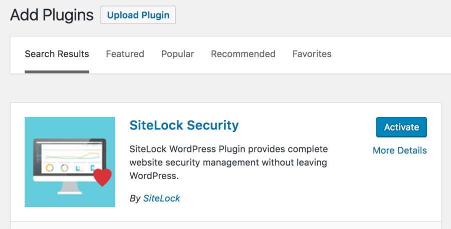 SiteLock Plugin Installation