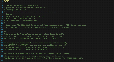 Keysfunctions code from fake Joomla! plugin