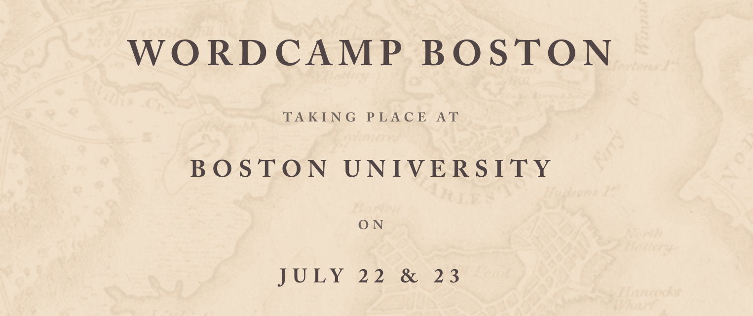 WordCamp Boston 2017