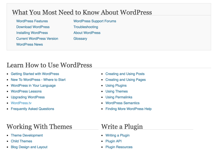 WordPress Documentation