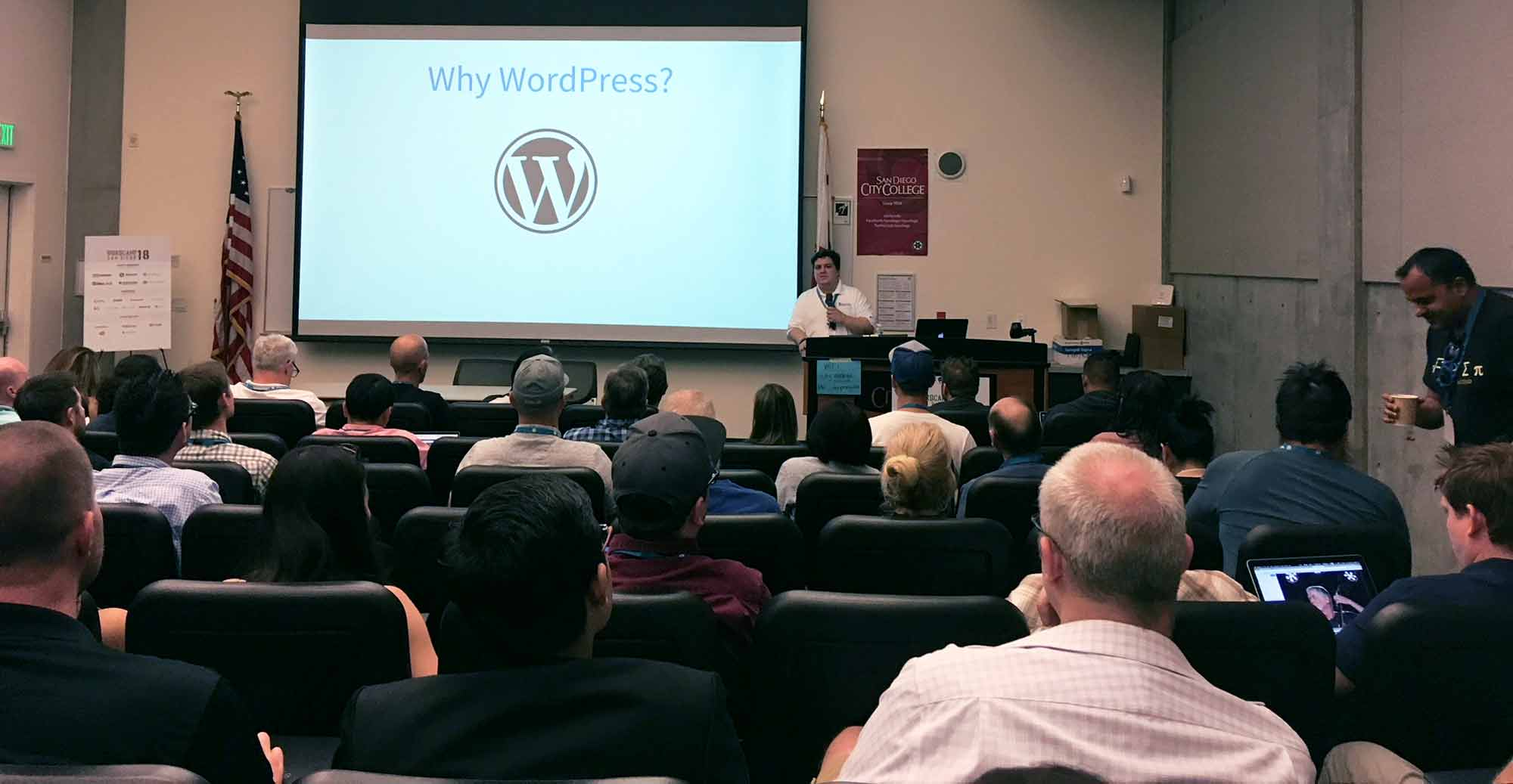 Chris David Miles of Bluehost at San Diego WordCamp 2018